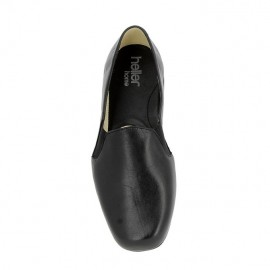 Slipper cuir Tavier- Noir