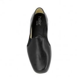 Slipper cuir Tavon- Noir
