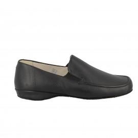 Slipper cuir Tome- Noir