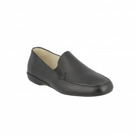 Slipper cuir Tommon- Noir