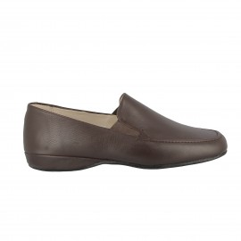 Slipper cuir Tommon- Marron