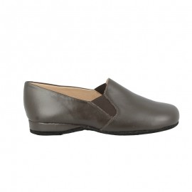 Slipper cuir Xavier- Marron
