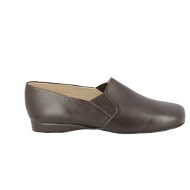 Slipper cuir Xavon- Marron